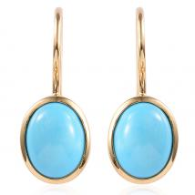 SLEEPING BEAUTY TURQUOISE (2.79 Ct) Sterling Silver Earring