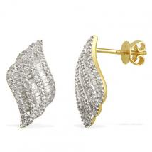 Diamond (0.58 Ct) 9K Y Gold Earring