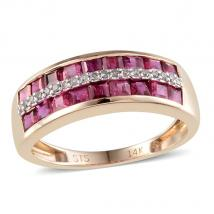 Ruby (1.62 Ct) and Diamond 14K Y Gold Ring